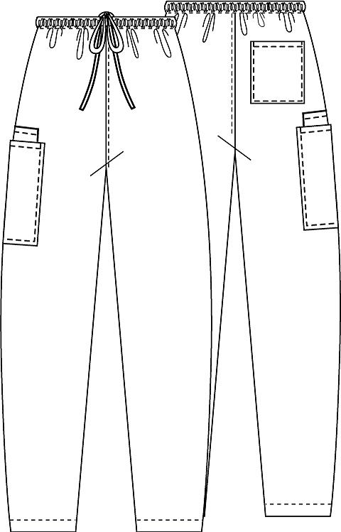 pantaloni medicali unisex cu șnur