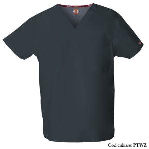 Bluza medicala unisex cu guler in V