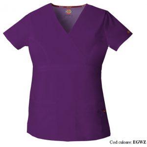 Bluza medicala dama cu guler in V