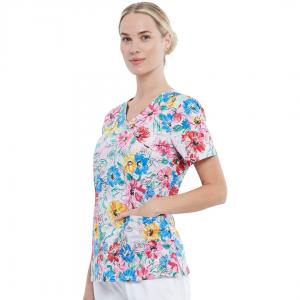 Bluza medical Watercolor Blossoms
